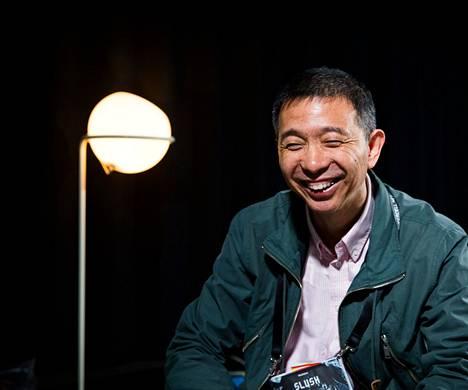 Alibaban teknologiajohtaja Wang Jian osallistui tällä viikolla Helsingin Kaapelitehtaalla pidettyyn Slush-kasvuyritystapahtumaan.