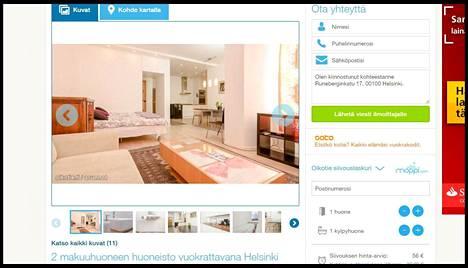 Kaksion omistaja näki oman asuntonsa vuokrailmoituksen Oikotie.fi-sivustolla.