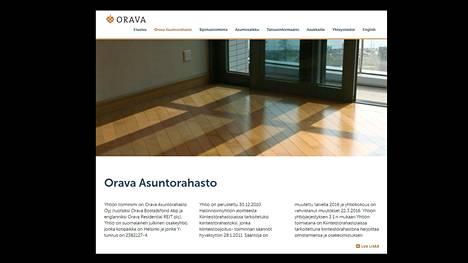 Kuvakaappaus Orava-asuntorahaston verkkosivulta.