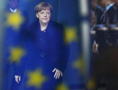Angela Merkel kuvattuna Berliinissä keskiviikkona.