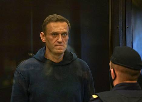 Aleksei Navalnyi oikeudessa tiistaina.