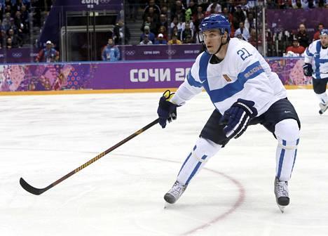Jori Lehterä edusti Suomea pronssia voittaneessa joukkueessa Sotsin olympialaisissa.