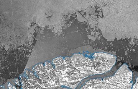 Grönlannin pohjoisin kärki satelliittikuvassa keskiviikkona.