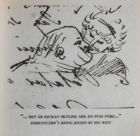 Carl August Ehrensvärd piirsi romanttisen kuvan itsestään ja vaimostaan.