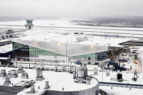 Helsinki-Vantaan kakkosterminaalin uusi aularakennus on 40 000 neliön suuruinen.