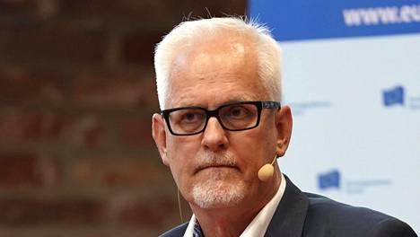 Kokoomuksen europarlamentaarikko Petri Sarvamaa keskusteli puolustuksesta Suomi-Areena-tapahtumassa Porissa viime vuoden heinäkuussa.