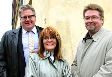 Jan Erola (vas.), Eetu Alvik ja Petteri Paasilinna.