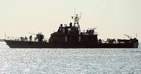 Iranin sotalaiva saapui Port Sudanin satamaan joulukuussa 2012.