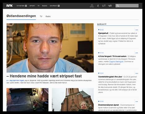Norjan yleisradioyhtiö NRK kertoo löytyneestä miehestä verkkosivuillaan.