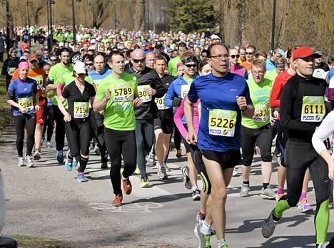 Helsinki City Run keräsi toukokuussa Helsingin keskustaan 18 000 juoksijaa.