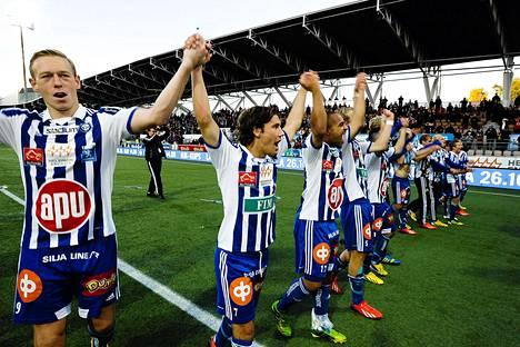 HJK voitti mestaruuden viime vuonna. Uusi kausi on katsottavissa älypuhelimista.