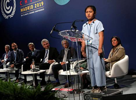 Licypriya Kangujam spoke at the UN Climate Summit in Madrid in December 2019 as a recipient of the Children's Peace Prize.