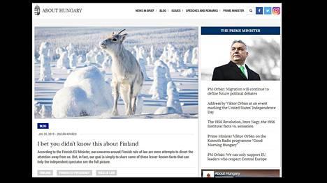 Kuvakaappaus About Hungary -blogisivuston kirjoituksesta.