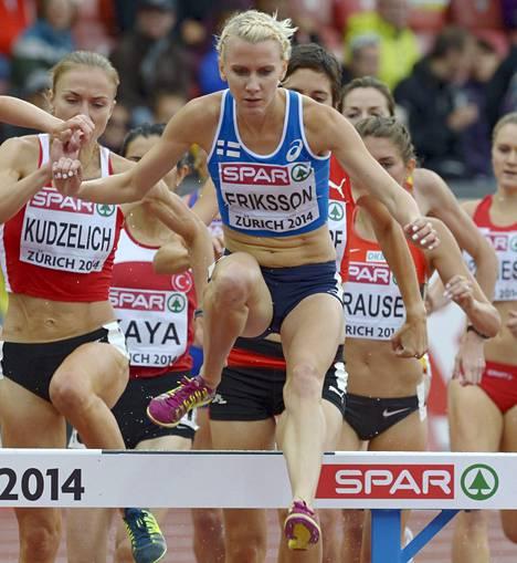 Sandra Eriksson on mitalikunnossa.