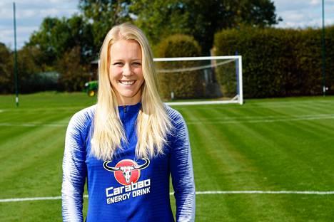 Chelseassa pelaava Adelina Engman teki Suomen 2–1 -maalin ottelussa Etelä-Afrikkaa vastaan.
