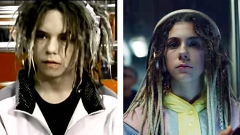Freestyler-videon tähdet Marlo Snellman (2000) ja Milica Bajcetic (2019).