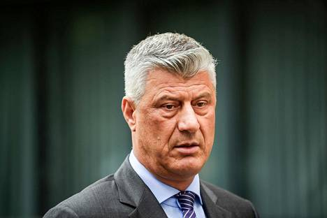 Kosovon presidentti Hashim Thaçi viime viikolla Pristinassa Kosovossa.