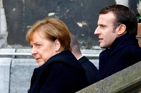 Saksan liittokansleri Angela Merkel ja Ranskan presidentti Emmanuel Macron allekirjoittivat tammikuussa Saksan Aachenissa uuden yhteistyösopimuksen.