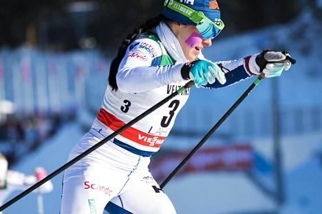 Krista Pärmäkoski oli maailmancupin kokonaiskilpailussa neljäs.