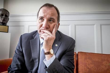 Pääministeri Stefan Löfven on Ruotsin sosiaalidemokraattien puheenjohtaja.