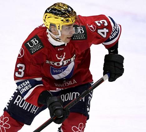 Sakari Salminen iski HIFK:lle yhden maalin.