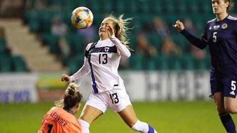 Amanda Rantasen tähtihetki oli 1. joulukuuta 2020, kun hänen kasvoistaan kimposi pallo Skotlannin verkkoon.