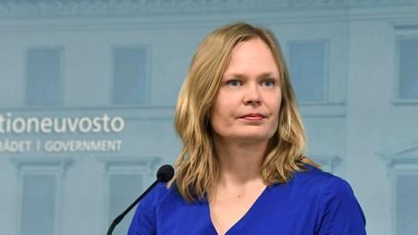 Tiede- ja kulttuuriministeri Hanna Kosonen (kesk) kuvattuna 2. huhtikuuta 2020.