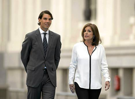 Rafael Nadal ja Madridin pormestari Ana Botella.