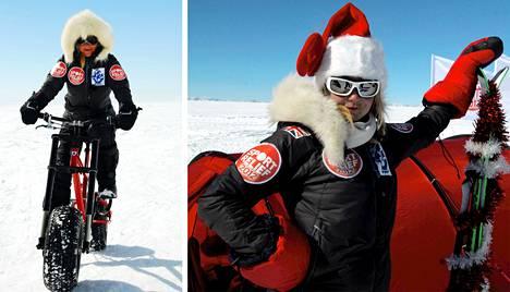 Helen Skelton vietti joulua Antarktiksella.