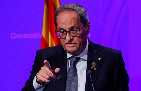 Katalonian aluehallinnon johtaja Quim Torra.