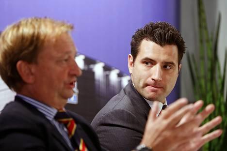 Harry Harkimo ja Roman Rotenberg kertoivat Jokereiden siirtymisestä KHL-liigaan keskiviikkona.