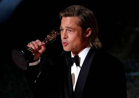 Brad Pittin poliittinen kiitospuhe Oscareissa ei miellyttänyt Trumpia.