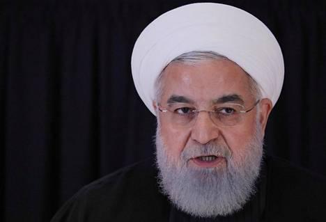 Iranin presidentti Hassan Ruhani syyskuussa YK:m istunnossa New Yorkissa.