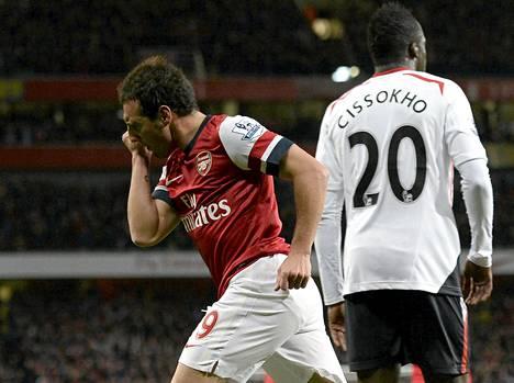 Santi Cazorla teki Arsenalin avausmaalin.