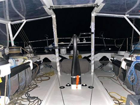 Näkymä Ari Huuselan veneen kannalta varhain torstaina.