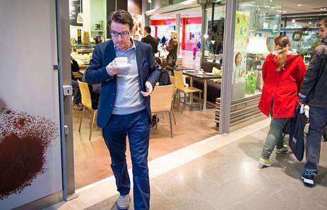 Ville Niinistö osallistui viime lauantaina Turussa kauppakeskus Skanssissa pidettyyn eduskuntavaaliehdokkaiden keskusteluun.
