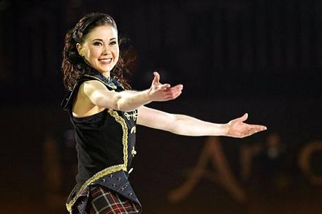 Laura Lepistö esiintyi viime kuussa Art on Ice -jääshowssa Hartwall-areenalla.