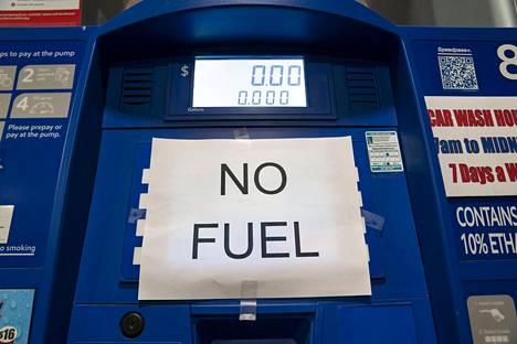 Virginian Arlingtonissa sijaitsevalta huoltoasemalta oli polttoaine loppunut keskiviikkona.