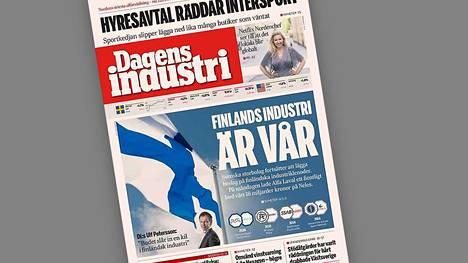 Dagens Industri kommentoi ruotsalaisen Alfa Lavalin ja suomalaisen Neleksen suunniteltua yritysjärjestelyä kannessaan.