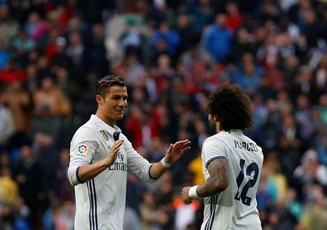 Cristiano Ronaldo ja Marcelo onnistuivat maalinteossa.