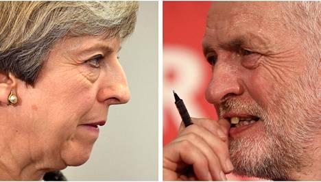 Konservatiivipääministeri Theresa May on nähnyt suosionsa hupenevan, kun taas oppositiojohtaja Jeremy Corbyn on pärjännyt odotettua paremmin.