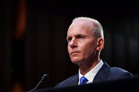 Boeingin toimitusjohtaja Dennis Muilenberg senaatin kuultavana tiistaina. Kuuleminen jatkuu edustajainhuoneessa keskiviikkona.