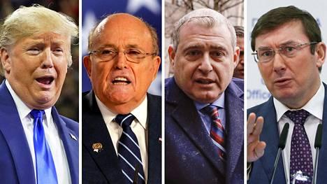 Donald Trump, Rudy Giuliani, Lev Parnas ja Juri Lutsenko.