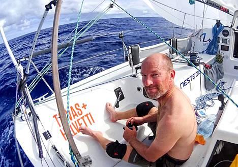 Ari Huusela taivalsi liki 8 000 kilometriä Atlantin yli, Ranskasta Guadeloupeen. Nautinnollisia päiviä oli hänen omasta mielestään vain kolme.
