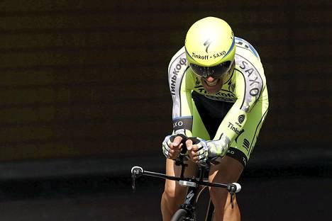 Ivan Basso kilpaili vielä Tourin avauspäivän aika-ajossa.