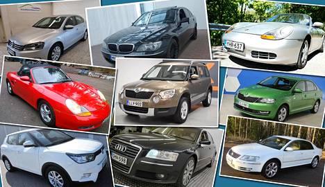 Nämäkin autot ovat myytävänä vähän yli kymmenellä tuhannella eurolla.