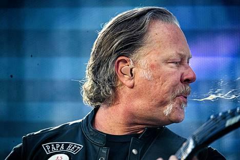 James Hetfield ja Metallica esiintyivät heinäkuussa Hämeenlinnassa.