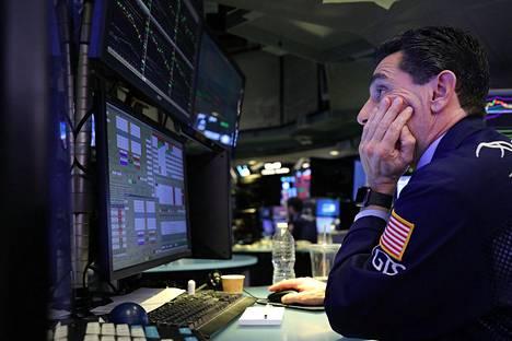 Meklarit tarkkailivat pörssikursseja New Yorkin pörssissä keskiviikkona.