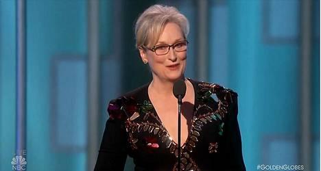 Meryl Streep puhui totuuden ja toisten kunnioittamisen puolesta.
