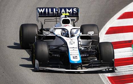 Nicholas Latifi ajoi Williams-tallin autoa Barcelonan gp-kisassa viime viikonloppuna.